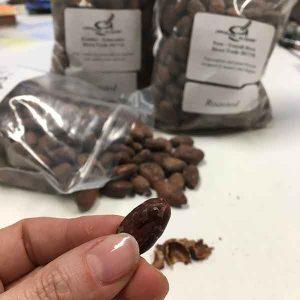 cacau comprado no Chocolate Alchemy (origens Equador, Peru e Vietnam)