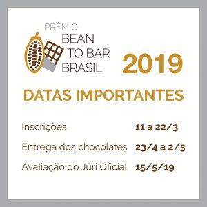 datas importantes P6Emio Bean to Bar Brasil 2019